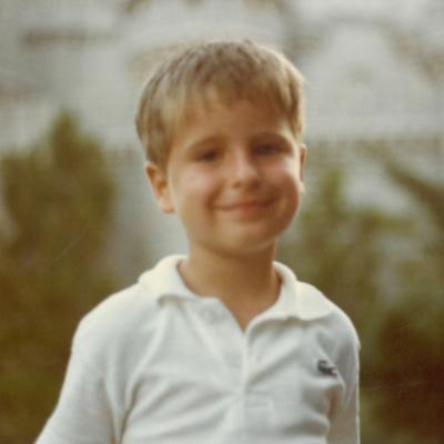 Childhood photo of BrandFuel employee Alex Stowe
