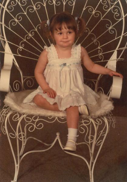 Childhood photo of Holley Grintz.