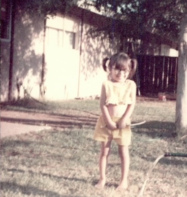 Childhood photo of Kim Olsen.