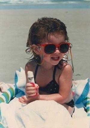 Childhood photo of Nikala Vizzari.