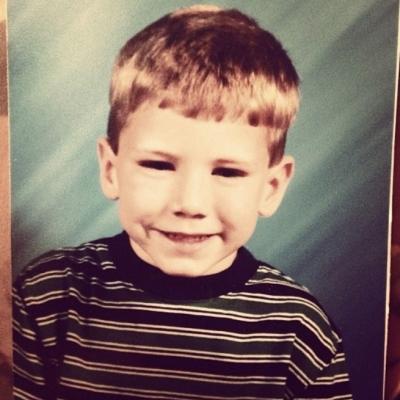 Childhood photo of Tyler Heller.