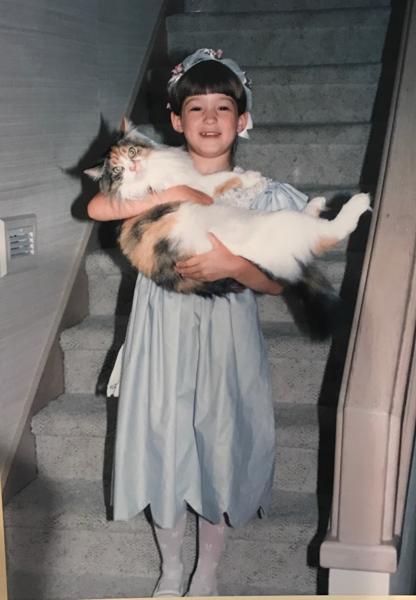 Childhood photo of Jessie Bryan.