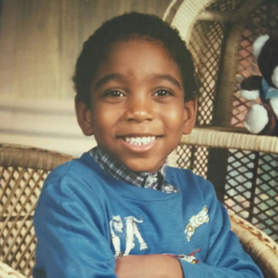 Childhood photo of John Griffin.