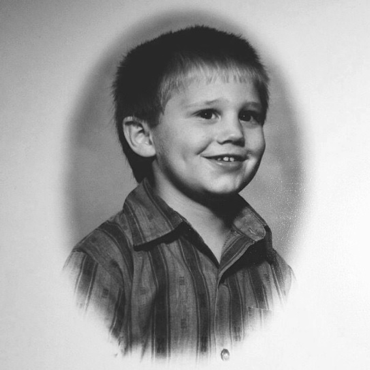 Childhood photo of Mike Edwards.