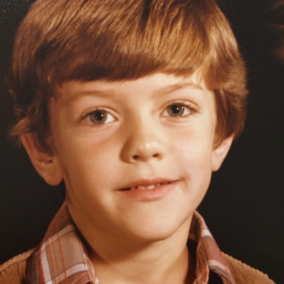 Childhood photo of Lyle Core.