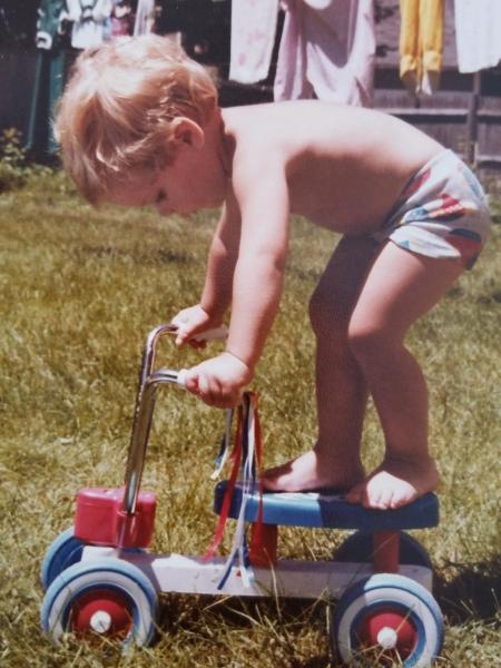 Childhood photo of Zach Sarner.