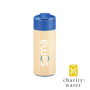 a recycled bamboo water bottle