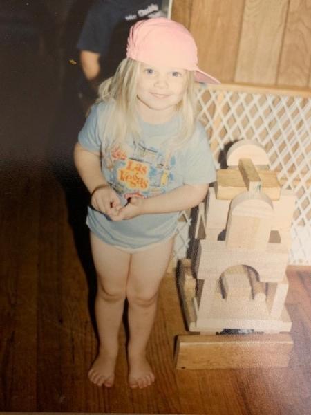 Childhood photo of BrandFuel employee Annette Trayer.