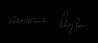 Robert Fiveash and Danny Rosin. Signatures.