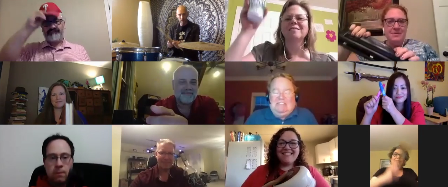 People on a Zoom call.