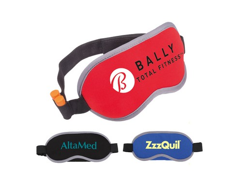 Three branded eye masks for sleeping.