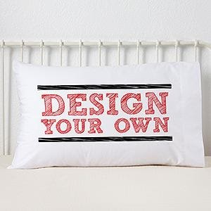 "A pillow branded with ""Design Your Own."""