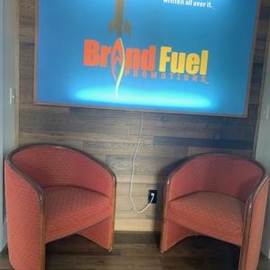 BrandFuel's Virginia office sitting area.