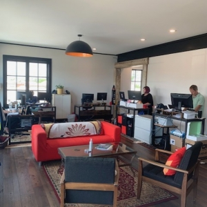 BrandFuel's Virginia office working and common space