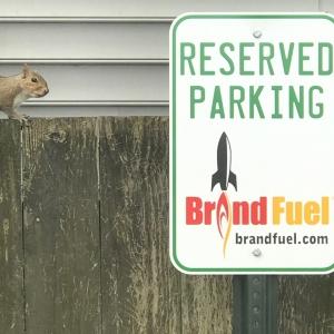 BrandFuel's Virginia office reserved parking