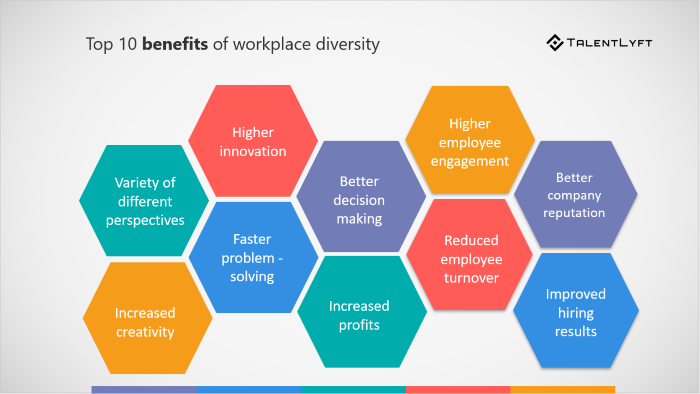 Diagram of workplace diversity