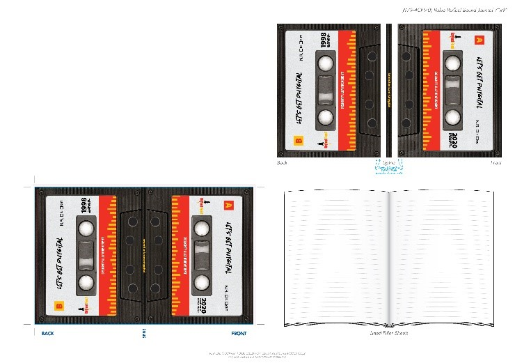 Two sets of cassettes and a journal.