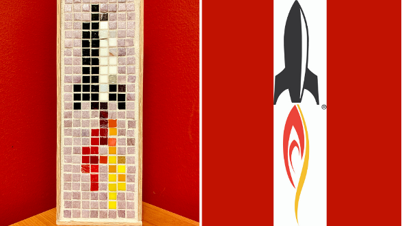 A mosaic of the BrandFuel logo and the BrandFuel logo next to it.
