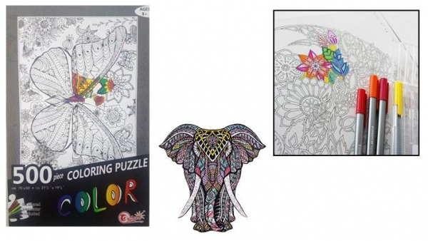 Coloring book puzzles.